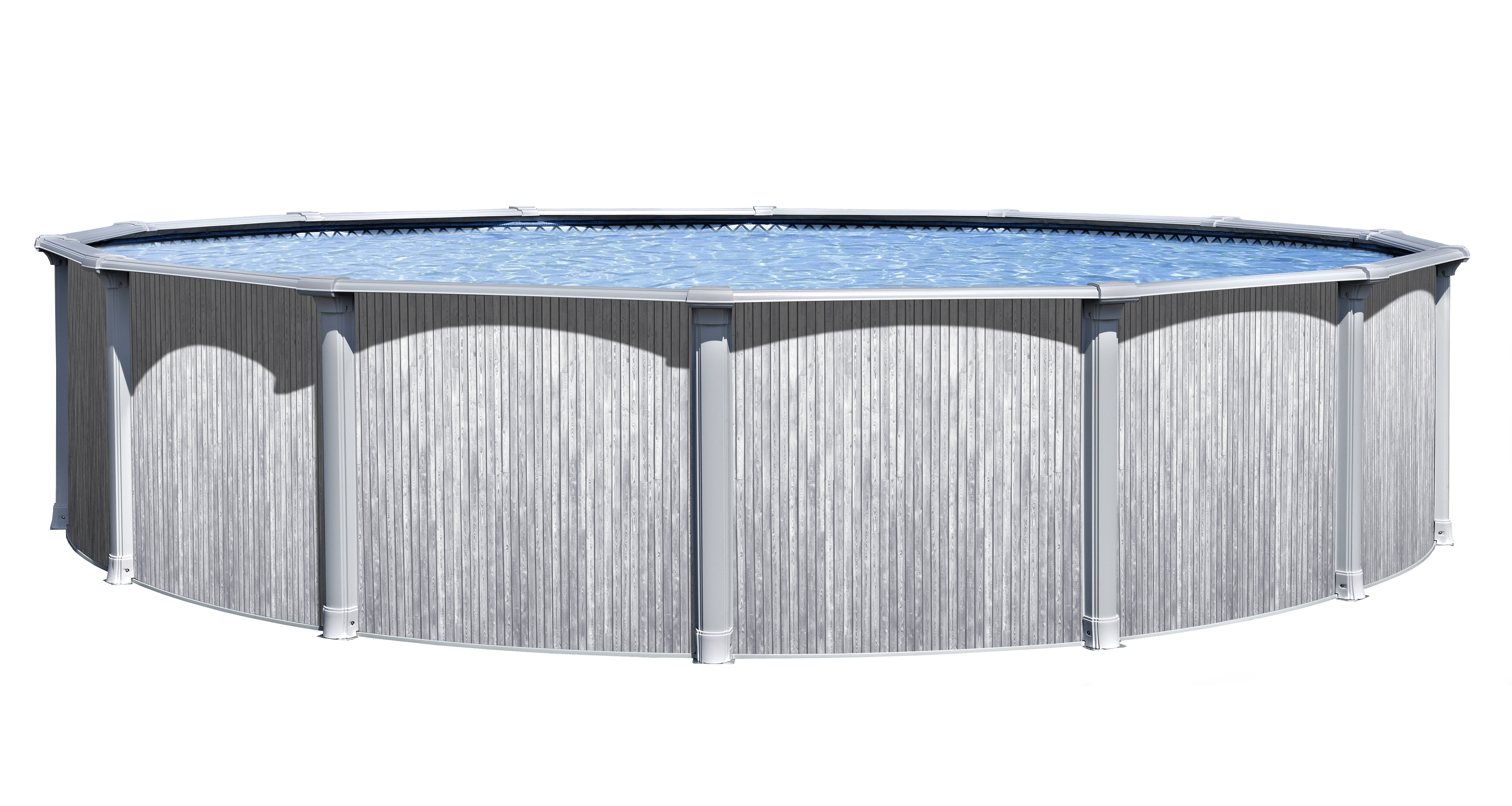 The Summerfield Above Ground Pool Package Installed