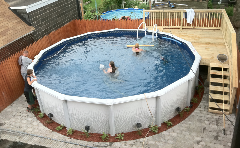 Built Right Pool Packages Installed Above Ground Or